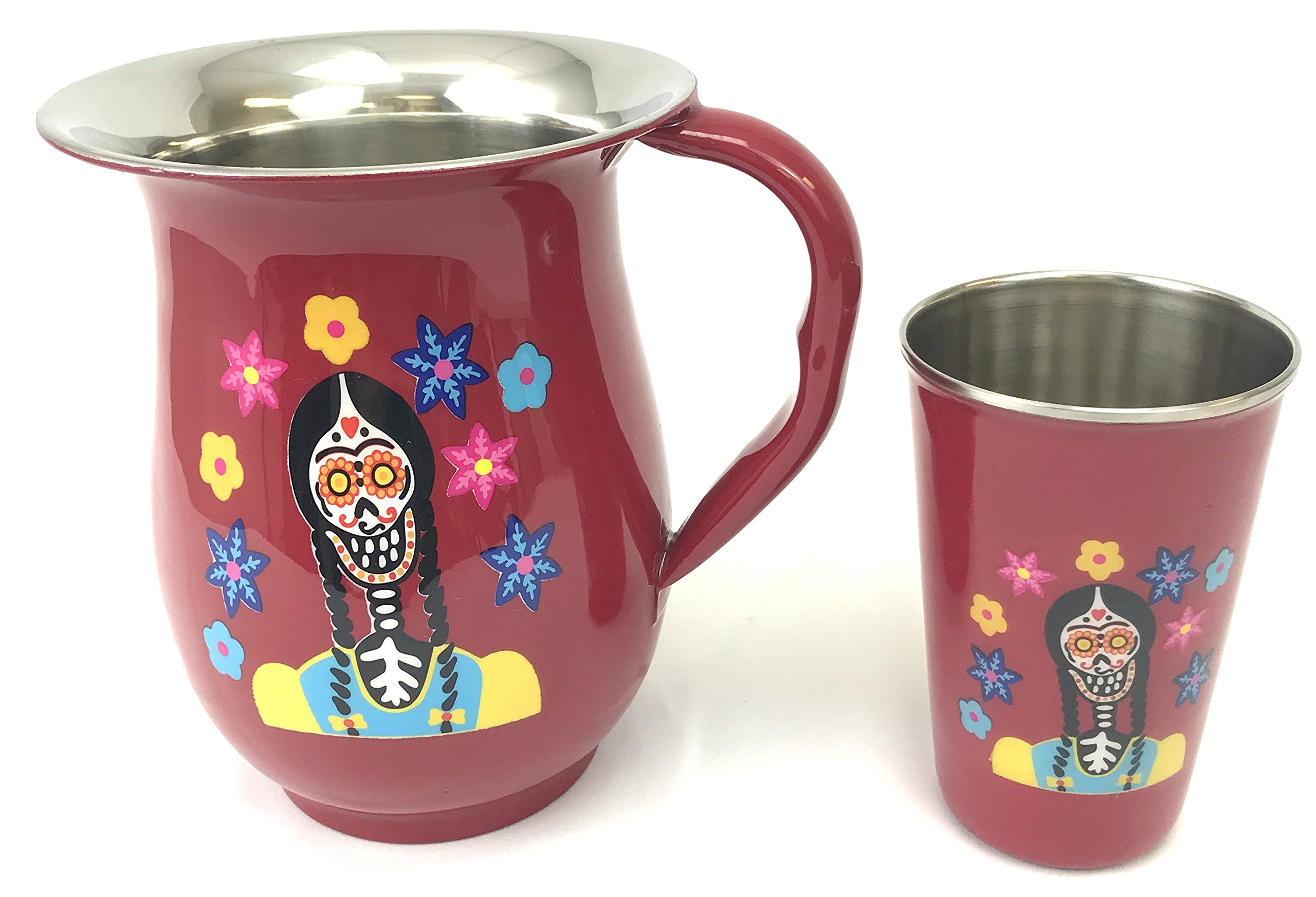Disney Parks Coco Stainless Steel Water Pitcher and Cup Set