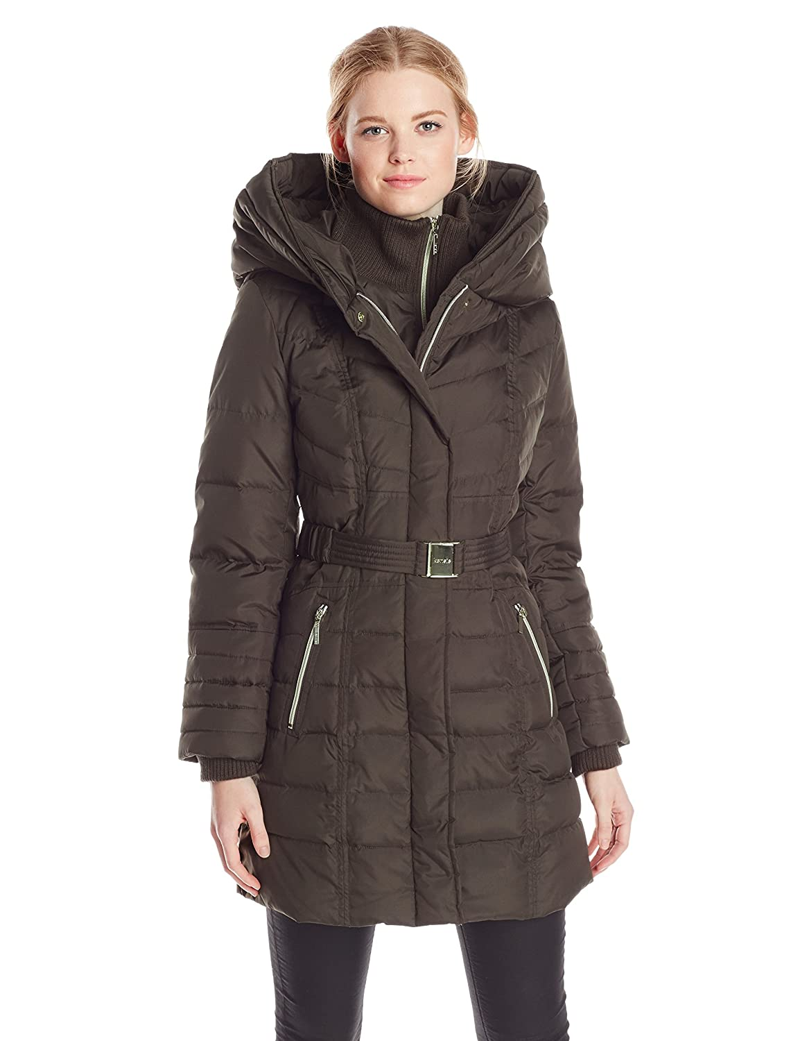 Amazon.com: Kensie Women's Down Coat with Hood: Clothing