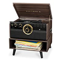 Victrola 6-in-1 Bluetooth Mid-Century Turntable