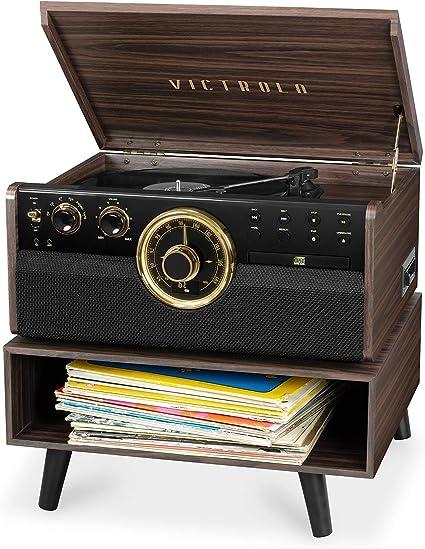 Amazon.com: Victrola - Reproductor de madera con Bluetooth ...