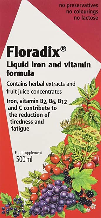 Floradix Liquid Iron Formula 500ml Amazon Co Uk Health Personal Care