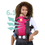 LÍLLÉbaby The COMPLETE All Seasons SIX-Position, 360° Ergonomic Baby & Child Carrier, Charcoal Berry - Multi-Position Ergonomic Baby Carrier for Infants Babies Toddlers