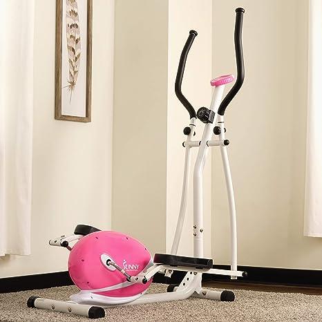 SUNNY salud y Fitness Rosa - Bicicleta elíptica magnética: Amazon.es: Deportes y aire libre