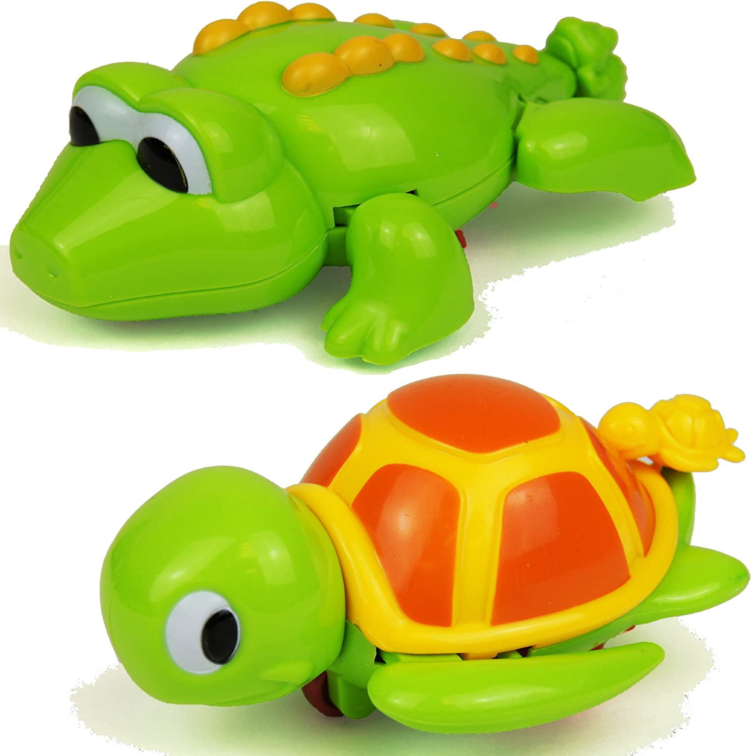 Bath Time Wind Up Swimming Crocodile or Turtle Bathtime Kids
