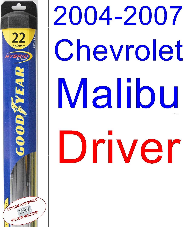 2004 - 2007 Chevrolet Malibu Maxx LS hoja de limpiaparabrisas de repuesto Set/Kit (Goodyear limpiaparabrisas blades-hybrid) (2005,2006): Amazon.es: Coche y ...