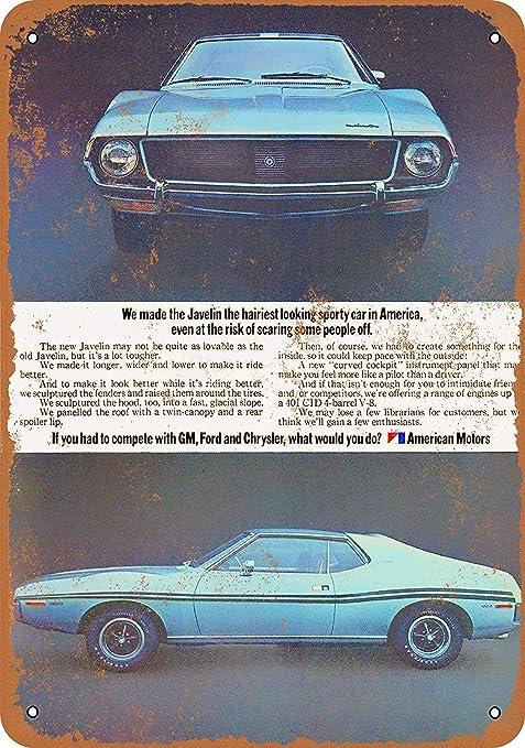 Amazon.com: SRongmao 1973 AMC Javelin - Cartel de metal (3.1 ...