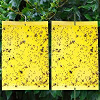 ROMAY Fly Traps 20 Pack Dual-Sided Yellow Sticky Gnat Traps for Flying Plant Insect Such as Fungus Gnats, Whiteflies…