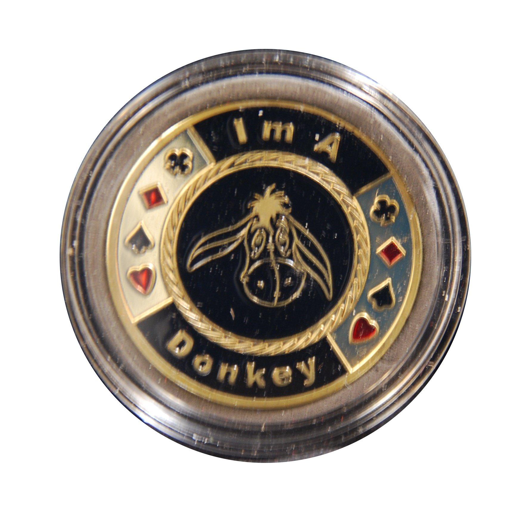 I Am a Donkey Poker Card Guard