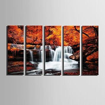 Amazonde Hd Autumn Falls Leinwand Kunstdruck Gemälde Poster