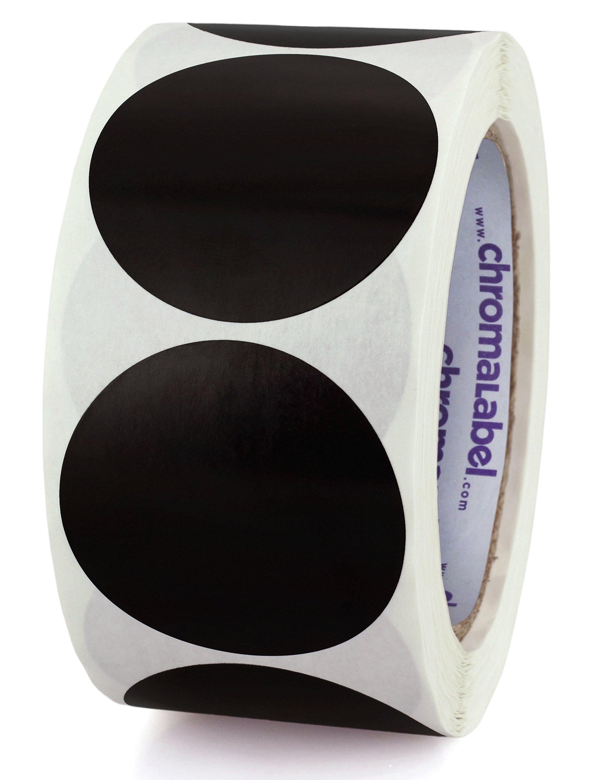ChromaLabel 2 inch Color-Code Dot Labels | 500/Roll (Black)