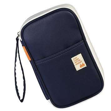 Travel Bag Purse Document Organiser Zipped Passport Tickets ID Holder Case UK