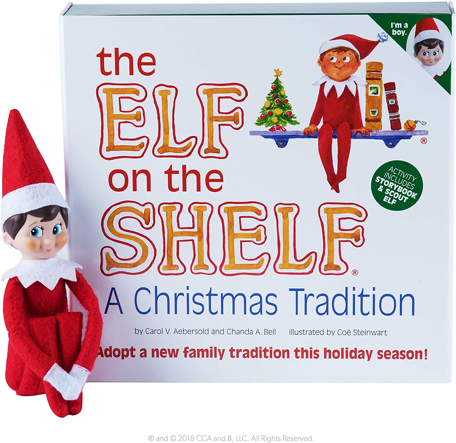 Amazon Com The Elf On The Shelf A Christmas Tradition Chanda A Bell Carol V Aebersold Coe Steinwart Toys Games