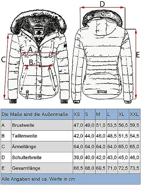 67543e12cc33a Marikoo Lotusblüte Chaqueta de Invierno para Mujer con Capucha de Pelo  sintético 6 Colores XS-XXL  Amazon.es  Ropa y accesorios