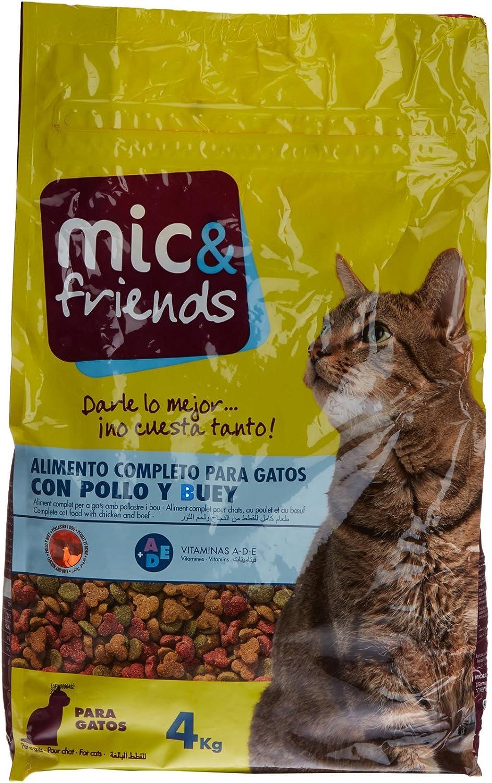 Mic & Friends Alimento Completo para Gatos con Pollo Y Buey - 4000 gr: Amazon.es: Alimentación y bebidas