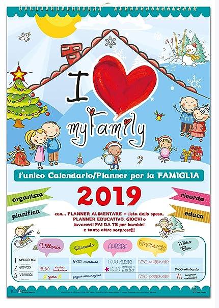 Calendario Agenda Della Famiglia 2019 My Family Amazonit
