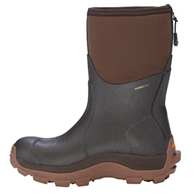 Dryshod Women's Haymaker Mid Cut Hard Working Farm Boot Brown Hay-WM-BR   Boots