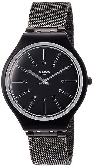 Swatch Reloj Analogico para Mujer de Cuarzo con Correa en Acero Inoxidable SVOB100M: Amazon.es: Relojes