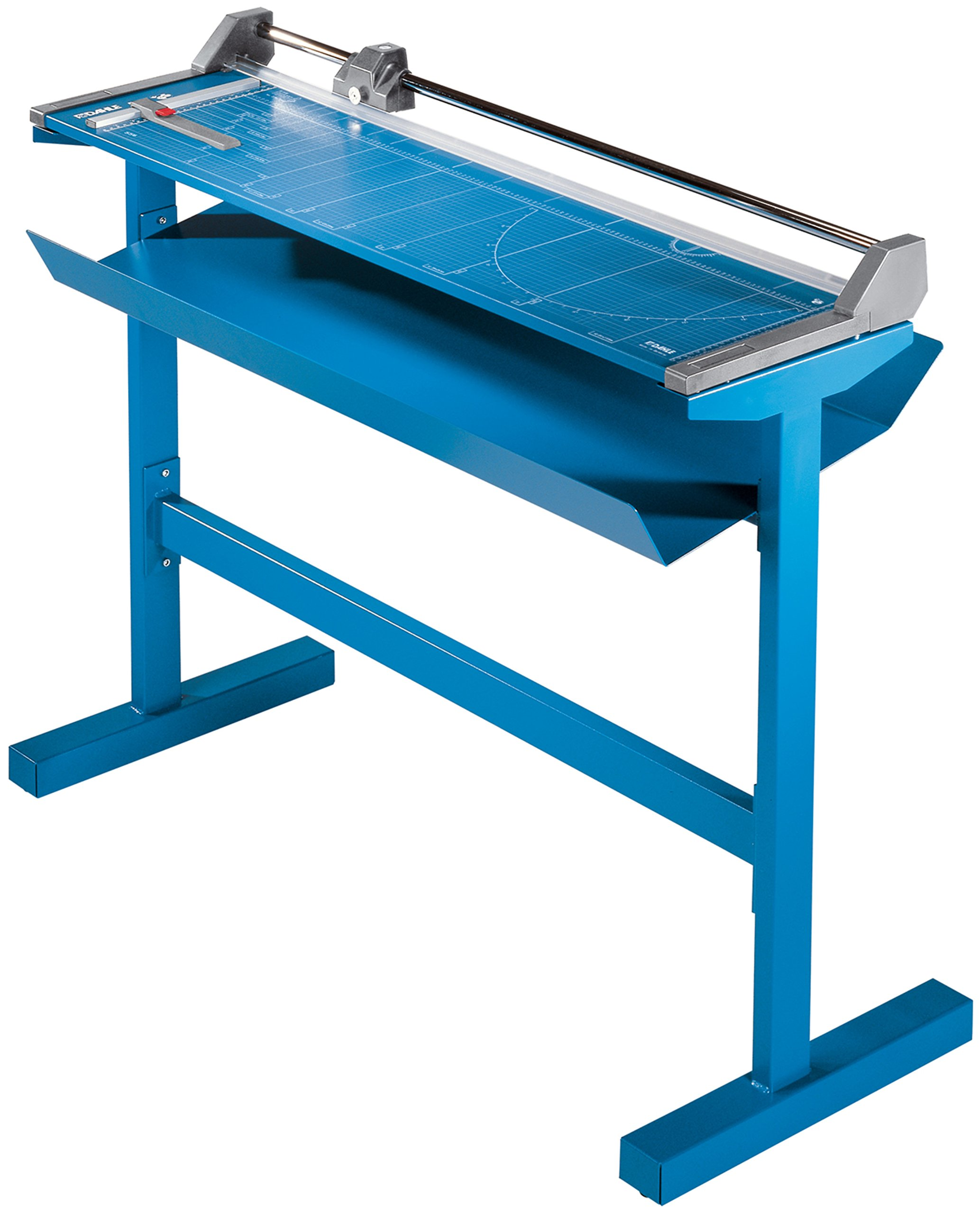 Dahle 558s Professional Rolling Trimmer w/stand, 51-1/8'' Cut Length, 12 Sheet Capacity, Self-Sharpening, Automatic Clamp, German Engineered Paper Cutter
