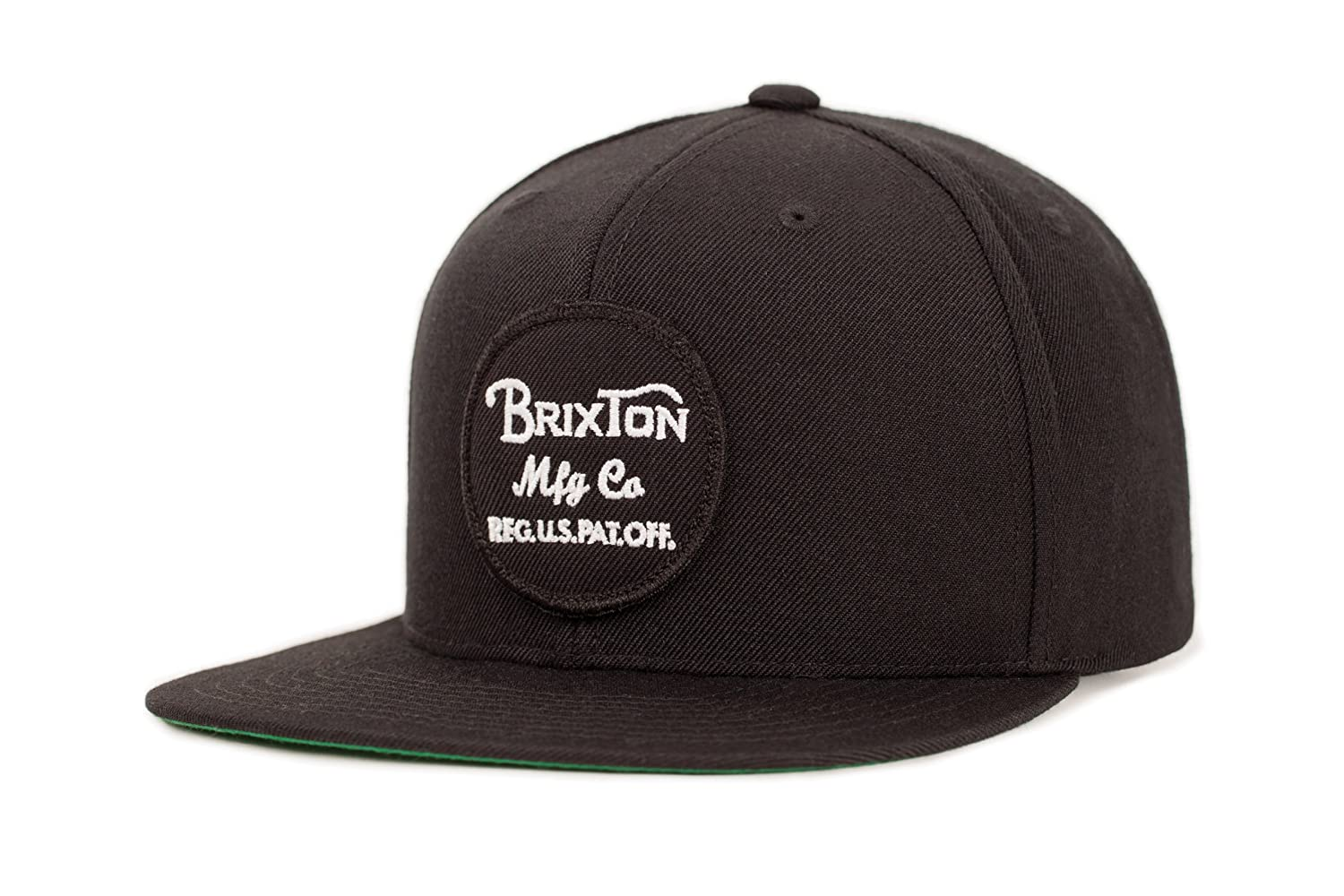 Brixton Men's Wheeler Medium Profile Adjustable Snapback Hat black/gold One Size 00375