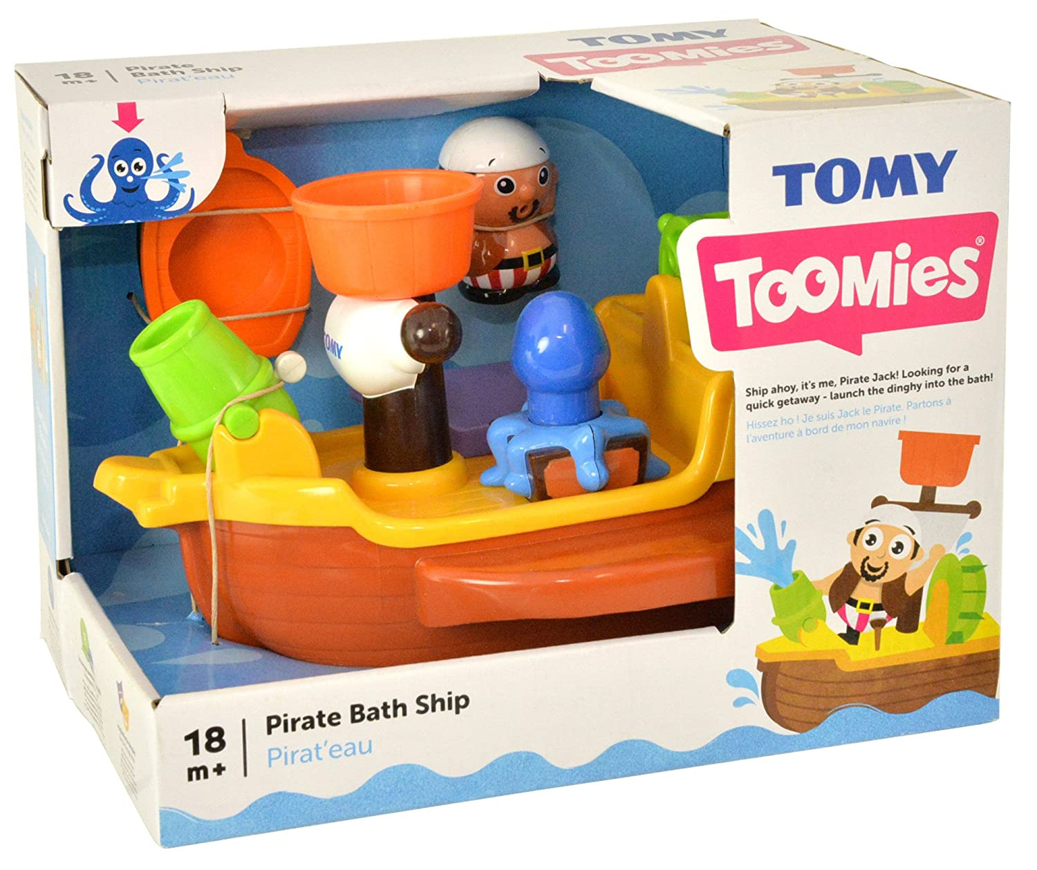 Amazon.com: Toomies Pirate Ship Bath Toy: Toys & Games