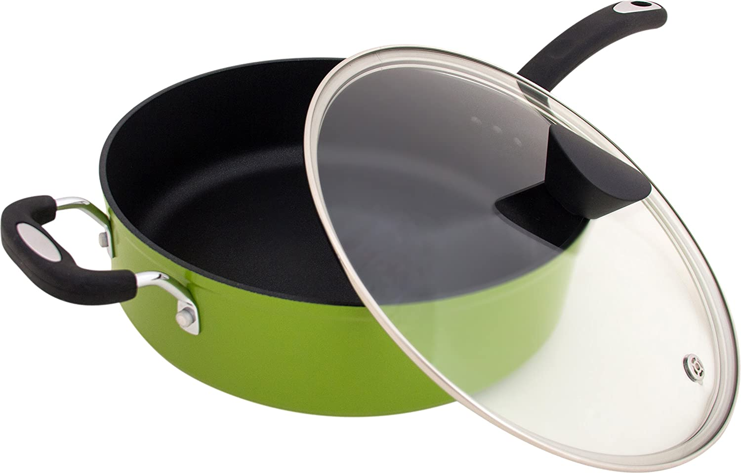 Ozeri The Green Earth All-In-One Sauce Pan with Ceramic Non-Stick Coating from Germany (100% PFOA & APEO Free) ZP7-5L