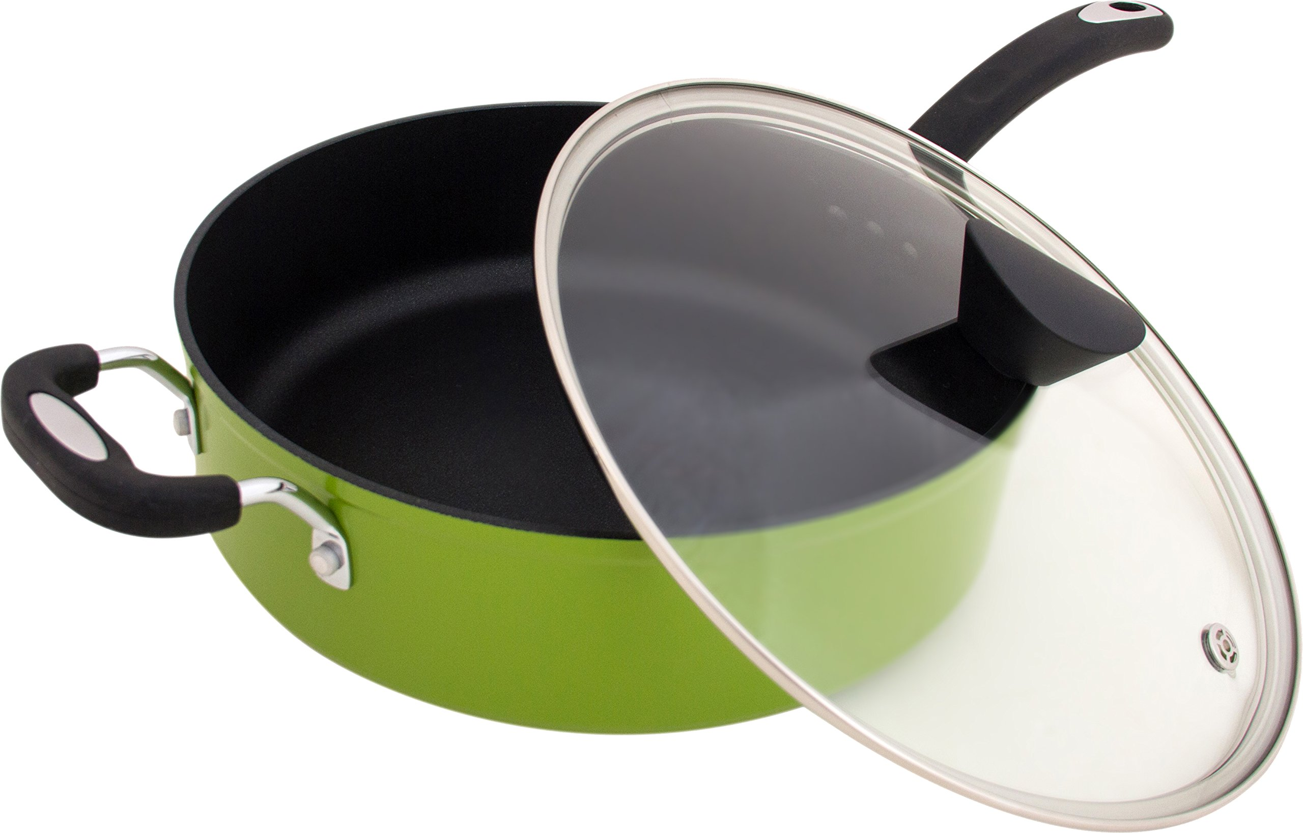 The Green Earth All-In-One Sauce Pan by Ozeri, with Ceramic Non-Stick Coating from Germany (100% PFOA & APEO Free)
