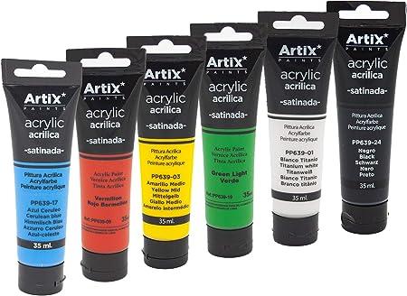 Pinturas acrílicas Standard, amplia gama de colores. Tubos de ...