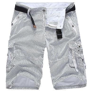 Cargo Shorts Homme Bermuda Rayures Pantalon Court  Amazon.fr ... 0f5dd406701