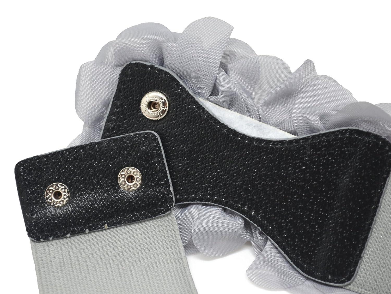 Meta-U - Cinturón ancho elástico con flores para mujer FLW00102 8b52cb043c