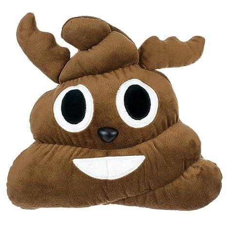 Amazon.com: emojicon Emoji caca de reno Stuffed Plush Pillow ...
