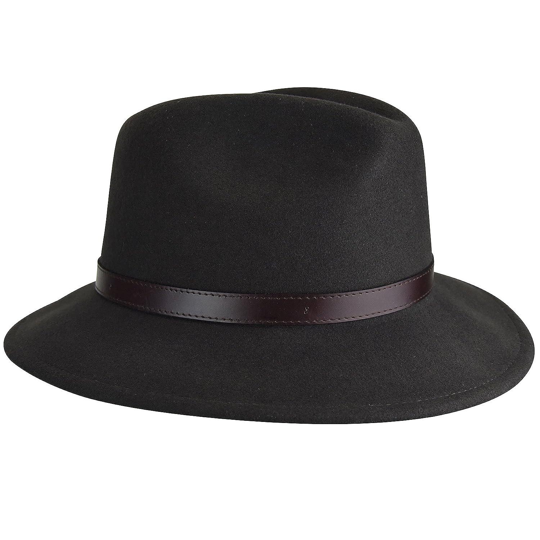 00b32c797bd85e Country Gentleman Men's Dunmore Classic Wool Fedora Hat at Amazon Men's  Clothing store: