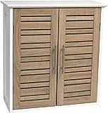 Meuble Haut 2 portes de salle de bain - Aspect Chêne vieilli