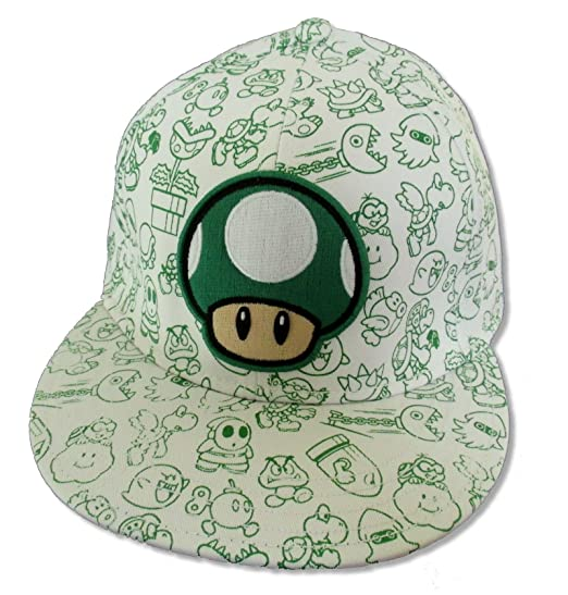 2541ad0514d Image Unavailable. Image not available for. Color  Bioworld Super Mario  Mushroom Characters White Cap Hat