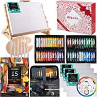 MEEDEN 72-Piece Acrylic Painting Set with Beech Wood Table Easel, 48×22ML Acrylic Paint Set and All The Additional…