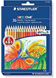 STAEDTLER Pack of 36 Noris Club Colouring Pencils, Johanna Basford Edition, Assorted Colours