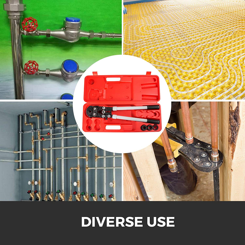 Frantools Pinces /à sertir Pince /à sertir pour tubes en U pour tubes PEX//cuivre//composite U16-32