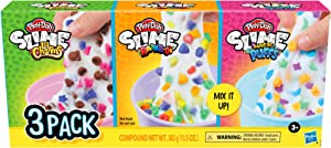Play-Doh Slime Cereal Themed Bundle of 3 Varieties for Kids 3 Years and Up, Milky-Colored Non-Toxic Slime Compound with Mix-in Bits, 4.5-Ounce Cans
