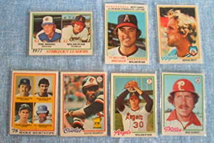1978 Topps Mlb Baseball Complete Set Of 726 Cards Condition Varies From Excellent To Near Mint Includes Rookie Cards Of Eddie Murray Paul Molitor
