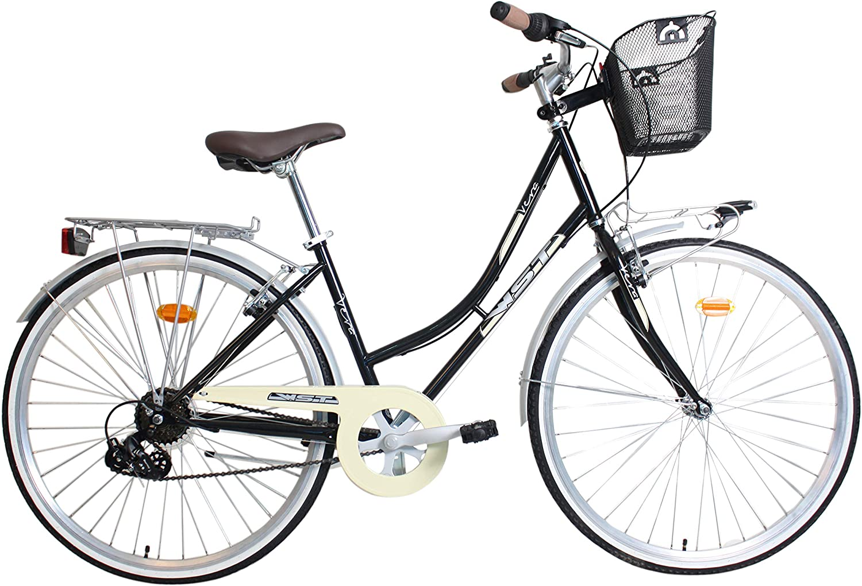WST Vera Bicicleta de Paseo, Adultos Unisex, Negra, M: Amazon.es: Deportes y aire libre