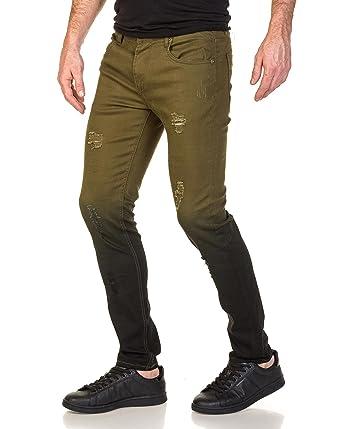 5870df8375d5ca John kaiki et Jeans couleur déchiré H Vert homme noir taille rwpUn5rtxq