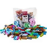 Strictly Briks Classic Stackers Set of 180 Building Bricks   New and Improved 2x2 Stackers for Towers and More!   100% Compatible with All Major Brands   Rainbow and Metallic Colors