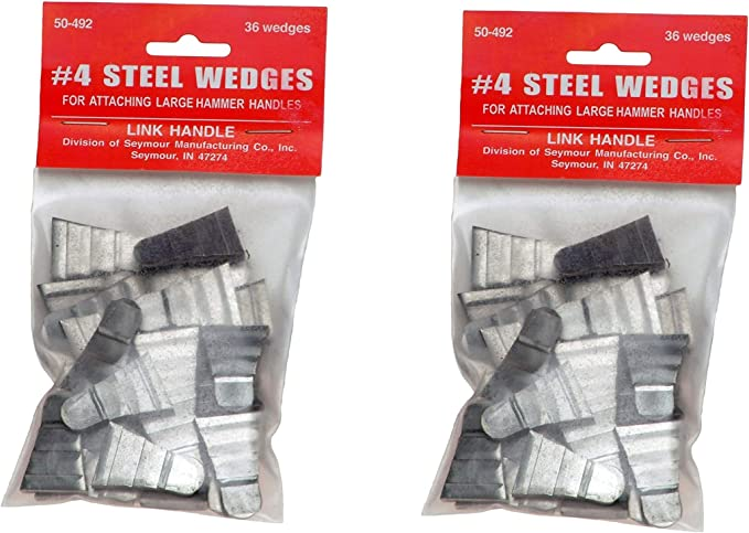 """No 4 Link Handles 64146 Corrugated Steel Wedges for Large Hammers 3//4/"""" Width"""