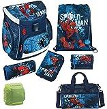 Spiderman Schulranzen Set 7tlg. Scooli Campus Up mit Federmappe gefüllt, Sporttasche SPON8252-GR