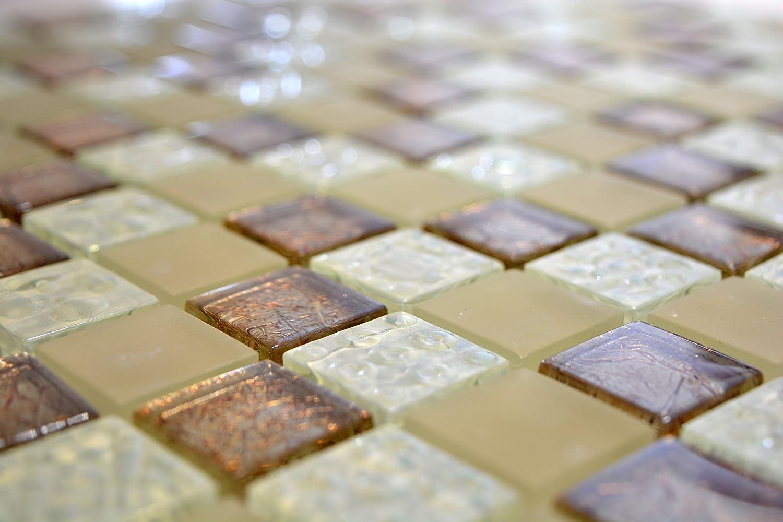 Carrelage pour carrelage mosa/ïque en verre brillant Champagne Cuisine Salle de bain WC de 8/mm # 600