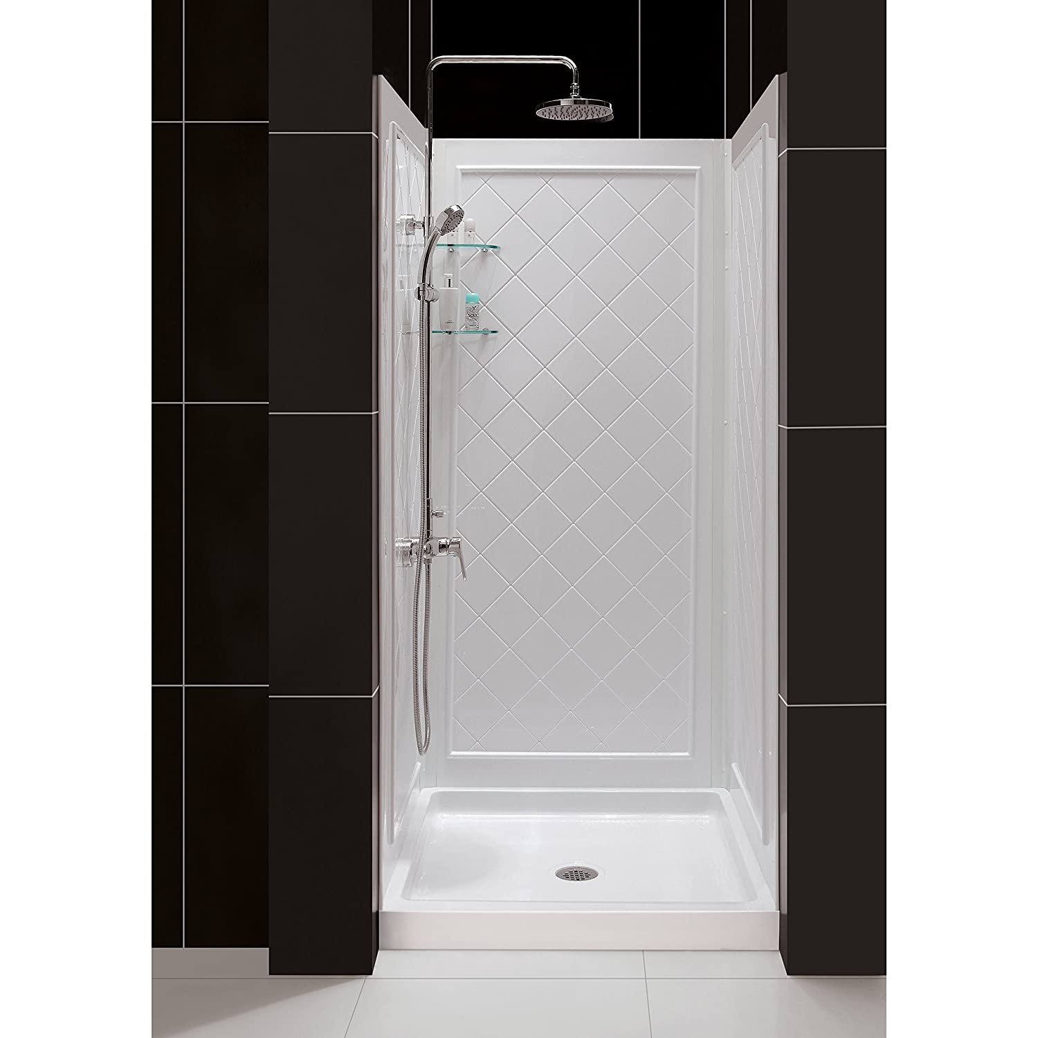 32 corner shower stall. DreamLine SlimLine 36  By Shower Base And QWALL 5 Backwall Kit Bases Pans Amazon Com Kitchen Bath Fixtures Showers
