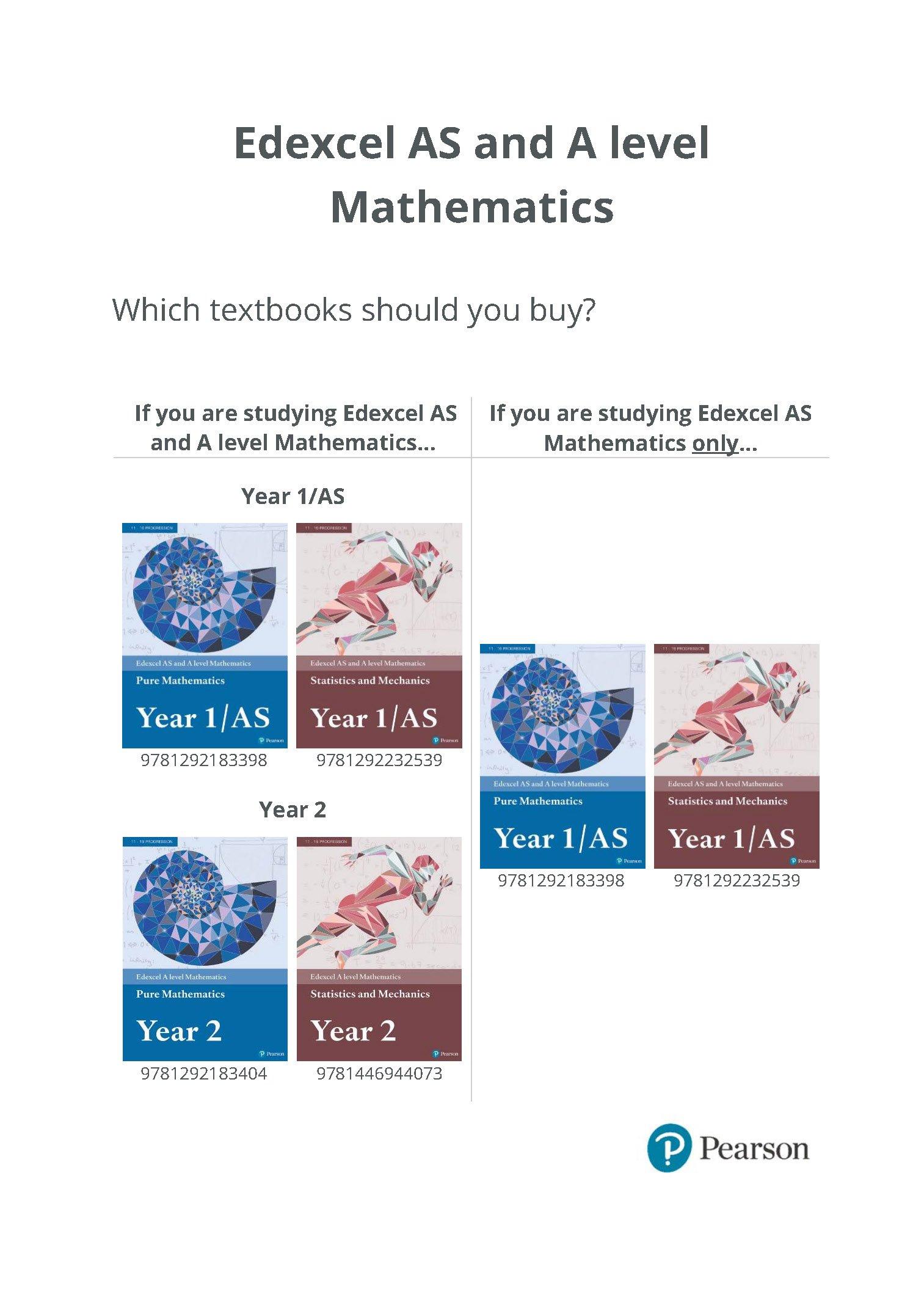 Edexcel AS and A level Mathematics Pure Mathematics Year 1/AS Textbook +  e-book (A level Maths and Further Maths 2017): 9781292183398: Amazon.com:  Books