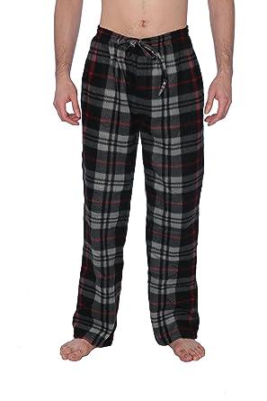 Active Club Fleece Lounge Plaid Pajama Pants for Men - Adjustable Waistband 51d62b99c