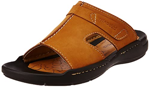 ae0b6816b88 Miraatti Men s Apricot leather Sandals and Floaters - 11 UK (6953-7A ...