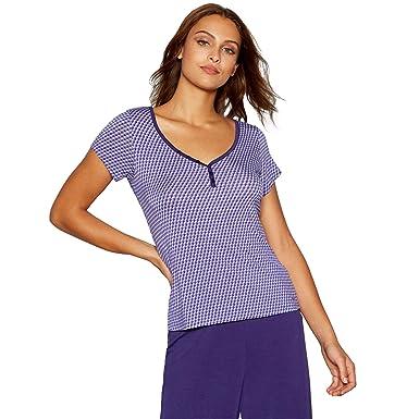 Debenhams J by Jasper Conran Womens Purple Geometric Print Pyjama T-Shirt 8 84bdc7c8d