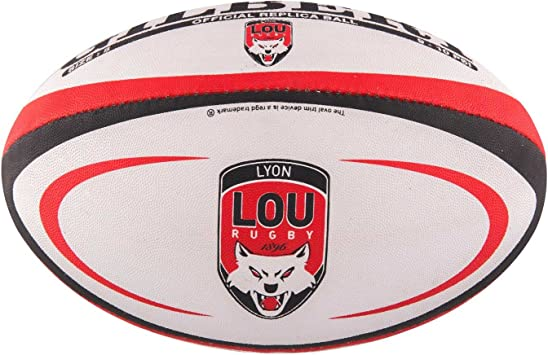 Gilbert Mini Ballon de Rugby Lyon (Taille 1): Amazon.es: Deportes y ...